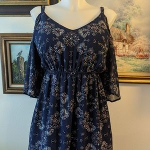Torrid Blue Cold Shoulder Dress